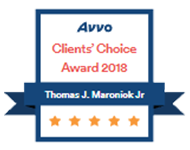 Avvo Client's Choice Award 2018 Thomas J. Maronick Jr