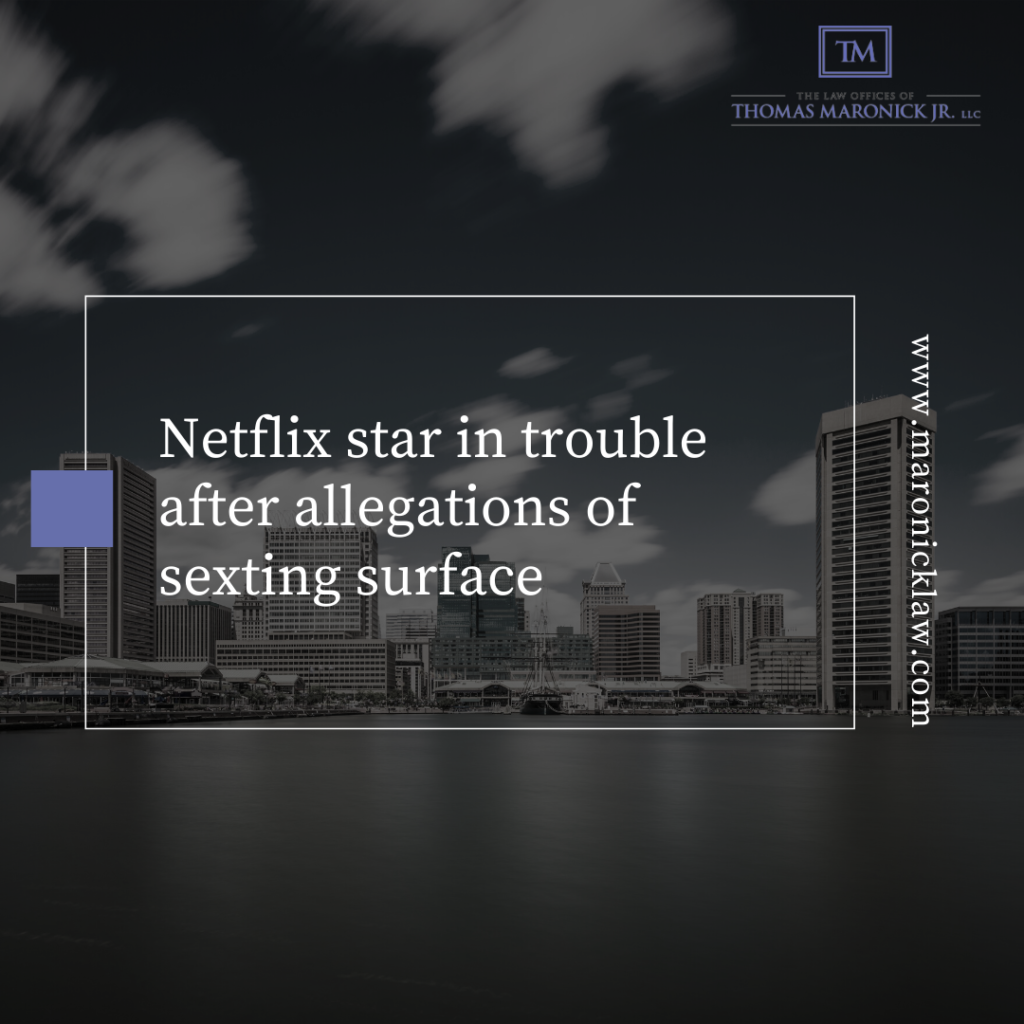 Netflix star in trouble after allegations of sexting surface